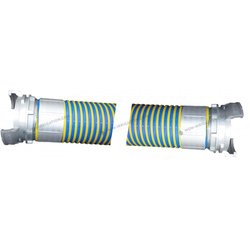 Tuyaux VIDAFLEX diamètre 70 mm avec raccords Guillemin