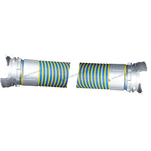 Tuyaux VIDAFLEX diamètre 80 mm avec raccords Guillemin sertis