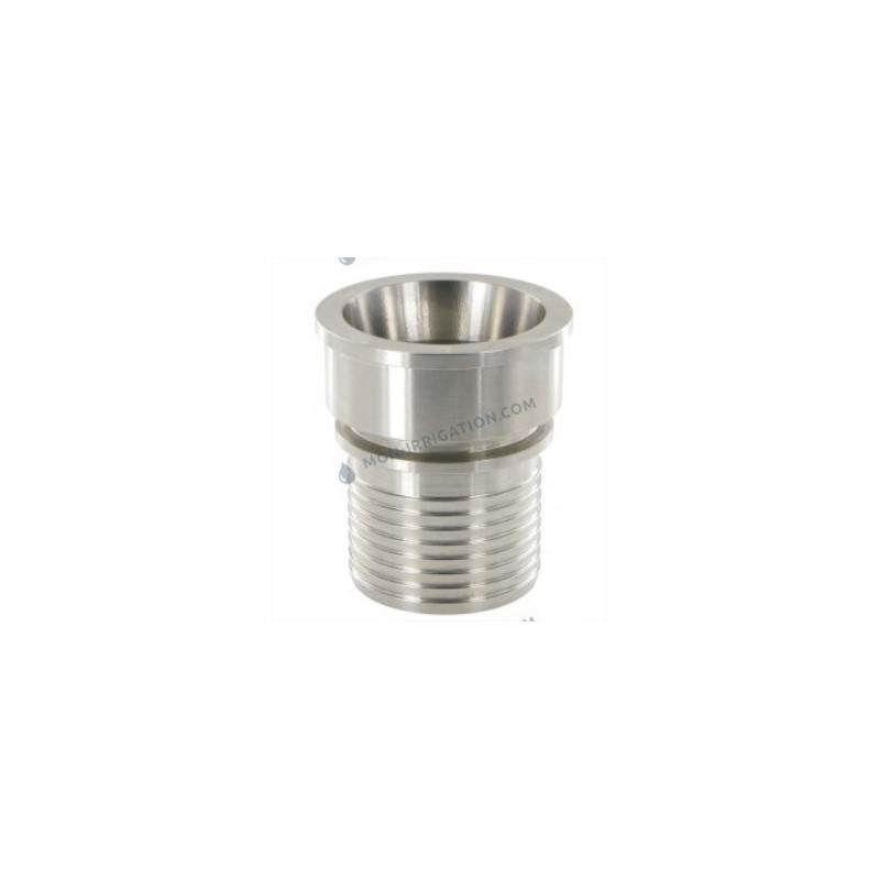 Raccord SMS Femelle INOX a douille annelee et collerette